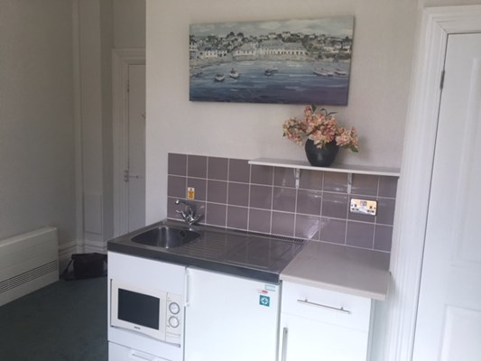 An example of one of our bedrooms kitchenette areas